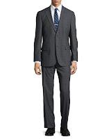 Hugo Boss Paolini Windowpane Check Suit, Dark Gray - (38R)