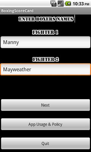 【免費運動App】拳擊記分卡-APP點子