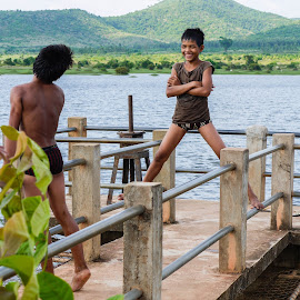 Lake in Cambodia by Angelo Perrino - Babies & Children Children Candids (  )