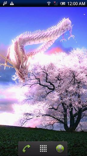 龍神と一本桜Free