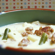 Potato, Green Bean and Bacon Chowder