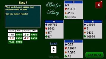 Screenshot of Bridge Diary