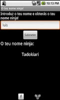 Screenshot of O teu nome ninja!