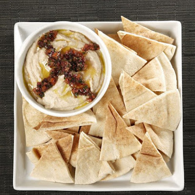 White Bean Hummus with Kalamata Relish