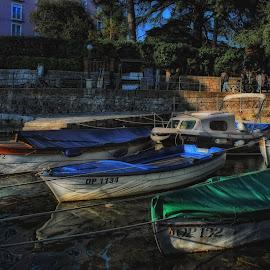 Harbor by Ljiljana Cviljak - Transportation Boats ( opatija, harbor, boats, croatia, sea )