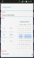 Screenshot of 2014 Holidays Calendar