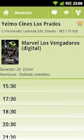 Screenshot of Theaters Showtimes