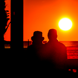 Thanksgiving Sunset by Diane Davis - Landscapes Sunsets & Sunrises