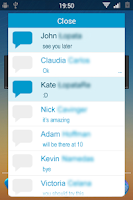 Screenshot of Facebook Notifications Widget