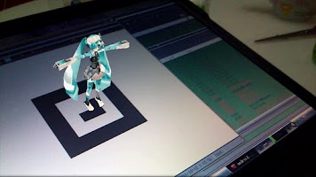Screenshot of miku 3D IKA AR