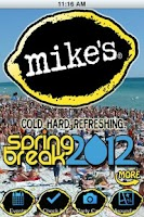 Screenshot of Mikes Spring Break App