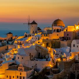 Amazing Santorini by George Papapostolou - City,  Street & Park  Vistas ( george papapostolou, sunset, greece, oia, travel, nikon, santorini, island )