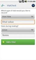 Screenshot of Vital Check