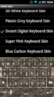 Screenshot of Desert Digital Keyboard Skin