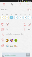 Screenshot of LoveCycles Menstrual Calendar
