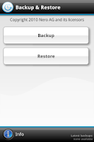 Screenshot of Dell™ Backup & Restore