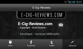Screenshot of E-Cig-Reviews.com App