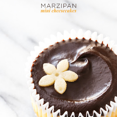 Marzipan Mini Cheesecakes