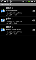 Screenshot of SMS Locations Receiver