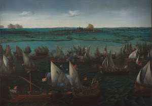 RIJKS: Hendrik Cornelisz. Vroom: Battle between Dutch and Spanish Ships on the Haarlemmermeer 1629