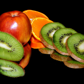 orange,apple,kiwi by LADOCKi Elvira - Food & Drink Fruits & Vegetables ( fruits )