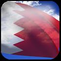 3D Bahrain Flag + icon