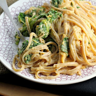 Sweet Potato Cream Pasta with Kale