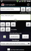 Screenshot of SMSoIP SMS.de Plugin