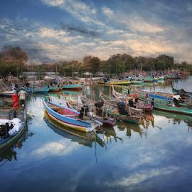 Sail Away by Haryo Suryo - Transportation Boats ( water, boat, river, surabaya )