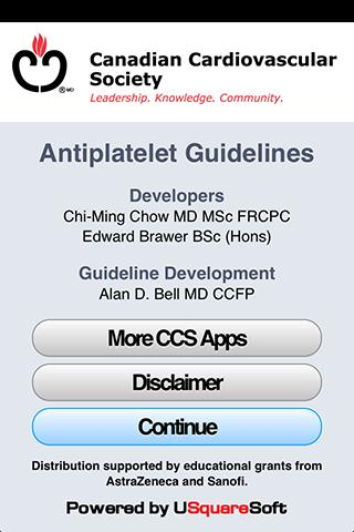 CCS Antiplatelet Guidelines