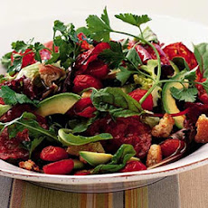 Warm Avocado Salad With Spicy Chorizo