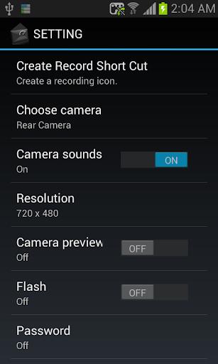 BLACK CAM SD - screenshot