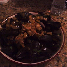 Mussels and Sweet Leeks