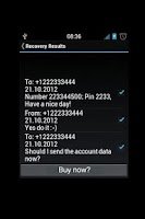 Screenshot of SMS Recovery DEMO