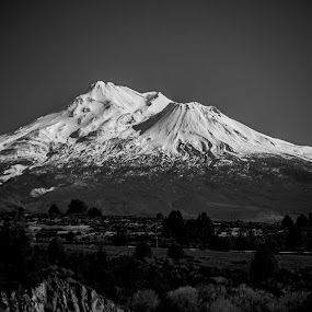 MT. Shasta in B&W by Scott Morgan - Black & White Landscapes ( moutain, shasta, b&w, mt., snow, spring,  )