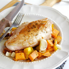 Maple Seared Chicken with Roasted Vegetables