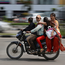 People on the move by Rakesh Syal - City,  Street & Park  Street Scenes (  )