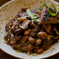 Lemon Garlic Fava Beans & Mushrooms