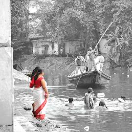 Crossing through mind.... by Arup Chowdhury - City,  Street & Park  Vistas