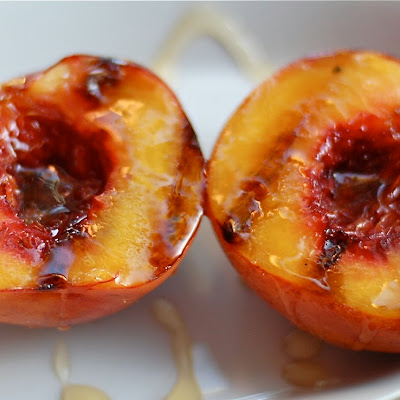 Grilled Peaches with Brown Sugar and Honey