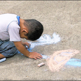 Focused Artist by Joseph T Dick - Babies & Children Children Candids