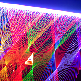 Lighting the cosmos ! by Jim Barton - Abstract Patterns ( laser light, colorful, light design, laser design, cosmos, laser, laser light show, space, light, lightning the cosmos, science )