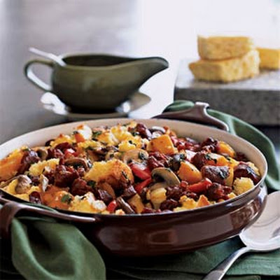 Southwest Cornbread and Chorizo Dressing