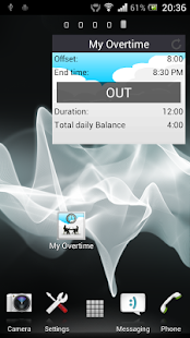 My Overtime - Working hours screenshot for Android