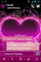Screenshot of GO SMS Pro Theme Hearts