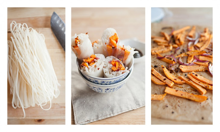 {Sweet Chili} Roasted Sweet Potato Spring Rolls