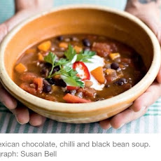 CHOCOLATE, CHILLI & BLACK BEAN SOUP