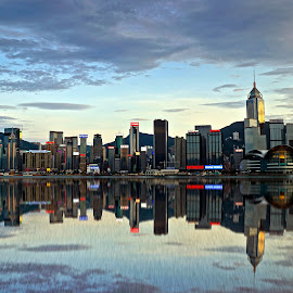 by Shalabh Sharma - City,  Street & Park  Skylines ( avenue of stars, hong kong, skyline, reflection, victoria harbour )