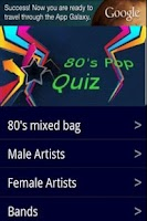 Screenshot of 80s Pop quiz