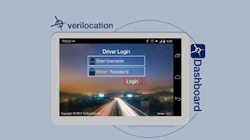 Screenshot of VeriLocation Vehicle Dashboard
